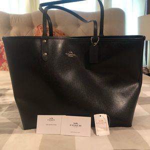 Coach Leather Tote- Large